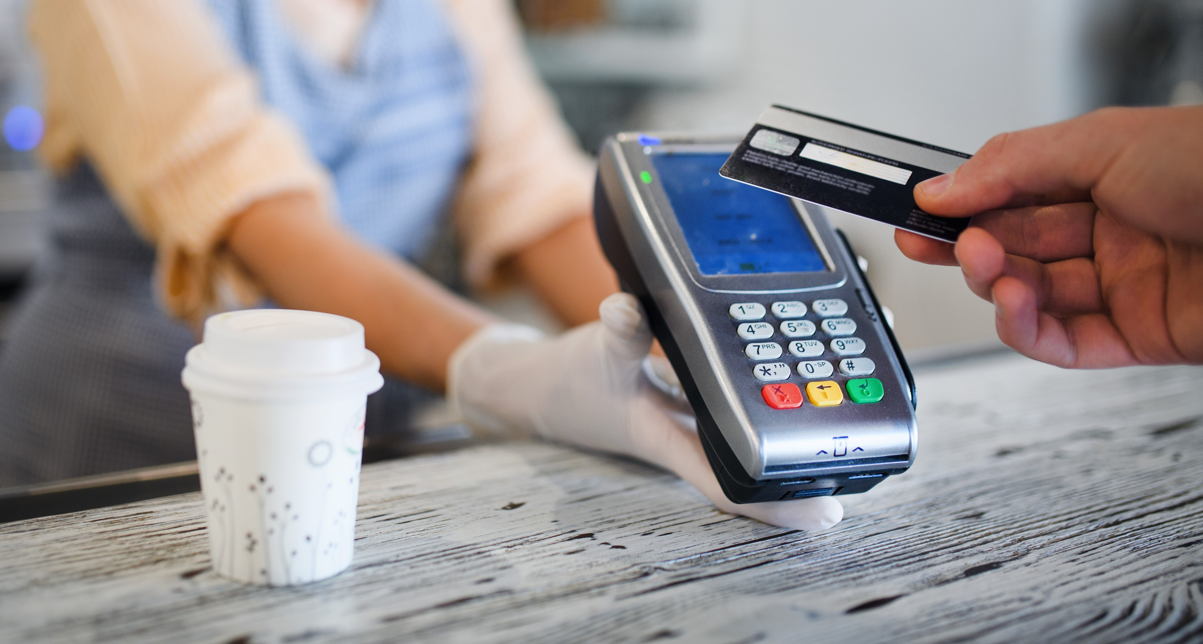 Contactless card in action