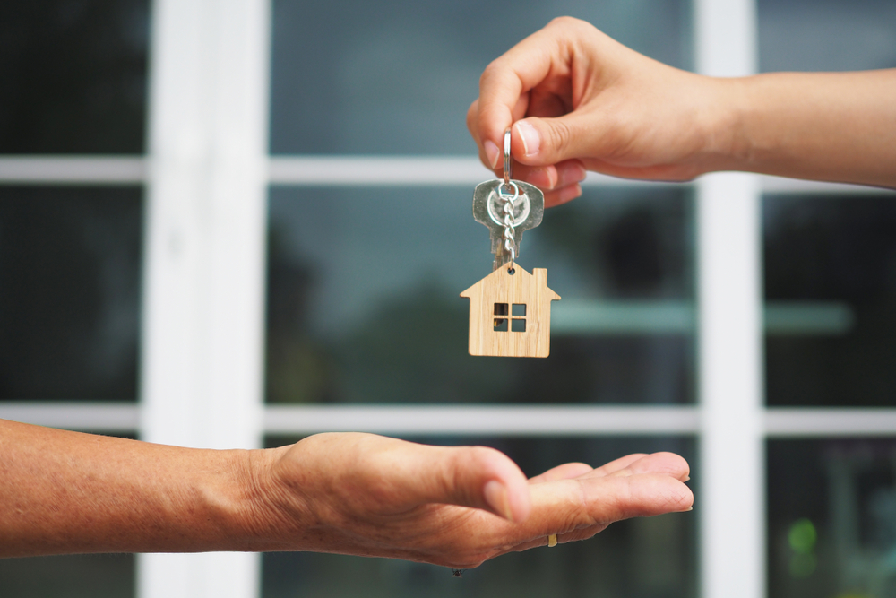 Getting the keys to your new home.