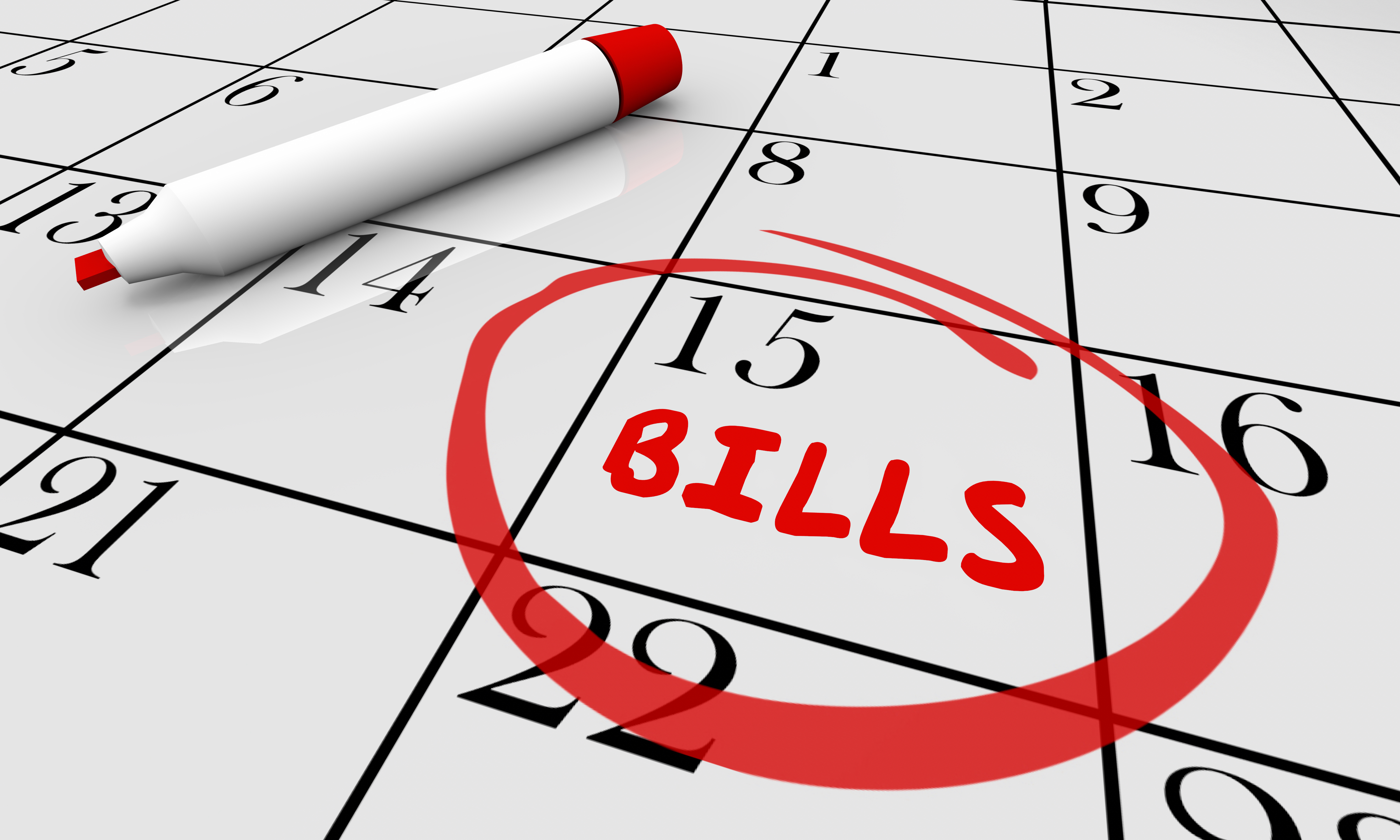 Work through bills for a more stable financial footing.